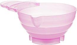 Парфумерія, косметика Миска для змішування фарби, пластикова з очисником для пензля, рожева - La Rosa