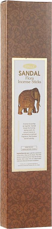 Ароматические палочки Сандал - Synaa Flora Incense Sticks Sandal