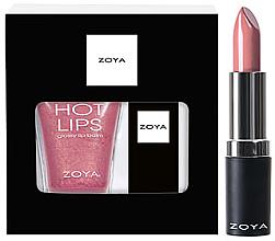 Духи, Парфюмерия, косметика Набор - Zoya Fun & Frosty Duo Snow Kissed (lip/gloss/12g + lipstick/4g)