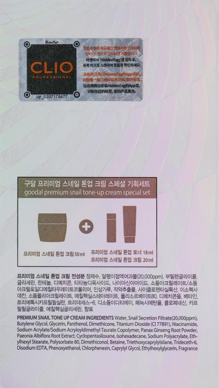 Набор - Goodal Premium Snail Tone-Up Special Set (cr/50ml + toner/18ml + cr/20ml) — фото N6