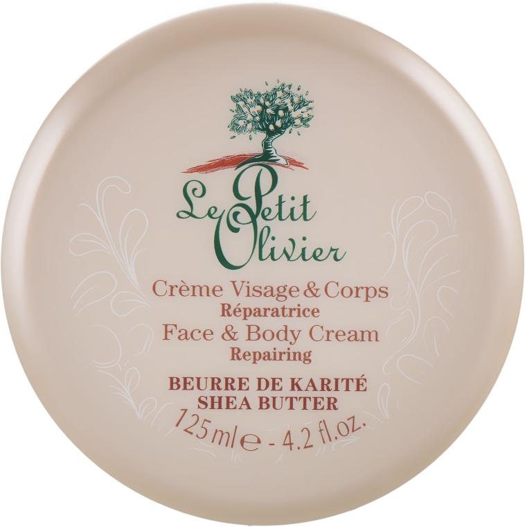 Крем для лица и тела - Le Petit Olivier Shea Butter Face And Body Cream Repairing