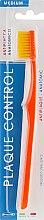 Духи, Парфюмерия, косметика Зубная щетка «Контроль налета» средняя, оранжевая - Piave Toothbrush Medium