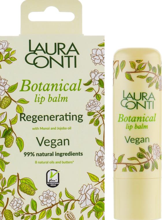 Восстанавливающий бальзам для губ с маслом моной и жожоба - Laura Conti Botanical Vegan Regenerating