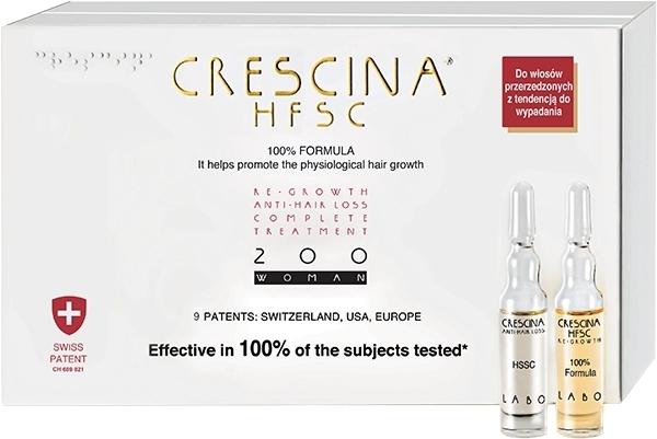 Комплекс для лечения выпадения волос у женщин 200 - Crescina Re-Growth HFSC Formula 100%