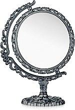 Духи, Парфюмерия, косметика Зеркало косметическое двухстороннее, 208-6, круг, черное - Элита