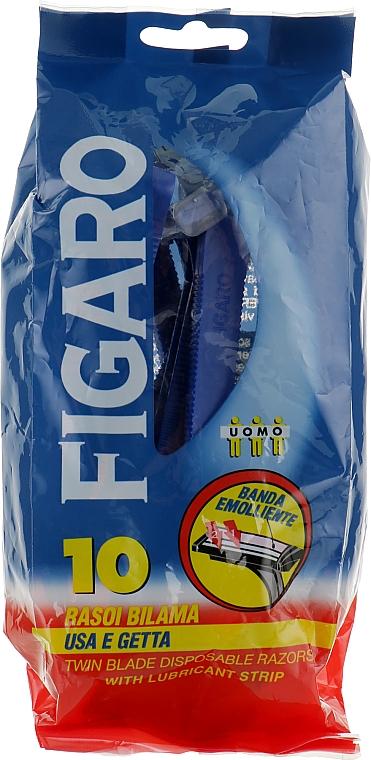 Станок для бритья с двойным лезвием и смягчающей полоской - Mil Mil Figaro