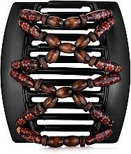 Духи, Парфюмерия, косметика Заколка для волос Beada 013, на черных гребнях для густых волос - African Butterfly Hair Clip