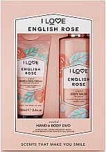 Духи, Парфюмерия, косметика Набор - I Love Signature Hand & Body Duo English Rose (h/cr/100ml + b/wash/360ml)