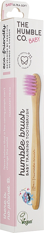 """Зубная щетка бамбуковая для младенцев и маленьких детей, ультрамягкая,""""Розовая"""" - The Humble Co. Baby Ultra Soft Toothbrush"""