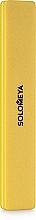 Духи, Парфюмерия, косметика Буффер-шлифовщик, желтый - Solomeya Square Sanding Sponge #100/180, Yellow