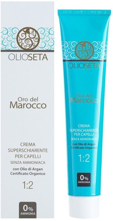 Суперосветляющая крем-краска для волос без аммиака - Barex Italiana Olioseta 1:2