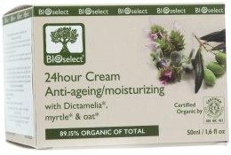 Духи, Парфюмерия, косметика Восстанавливающий 24-часовой крем, замедляющий старение с диктамелией и экстрактом лилии - BIOselect 24hour Cream Anti-Ageing/Moisturizing