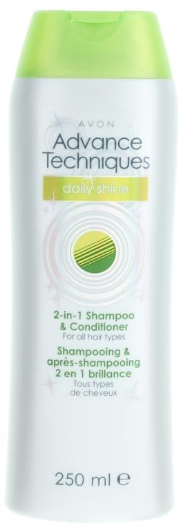 "Шампунь и кондиционер 2-в-1 ""Сияние день за днем"" - Avon Advance Techniques Daily Shine 2-in-1 Shampoo And Conditioner"