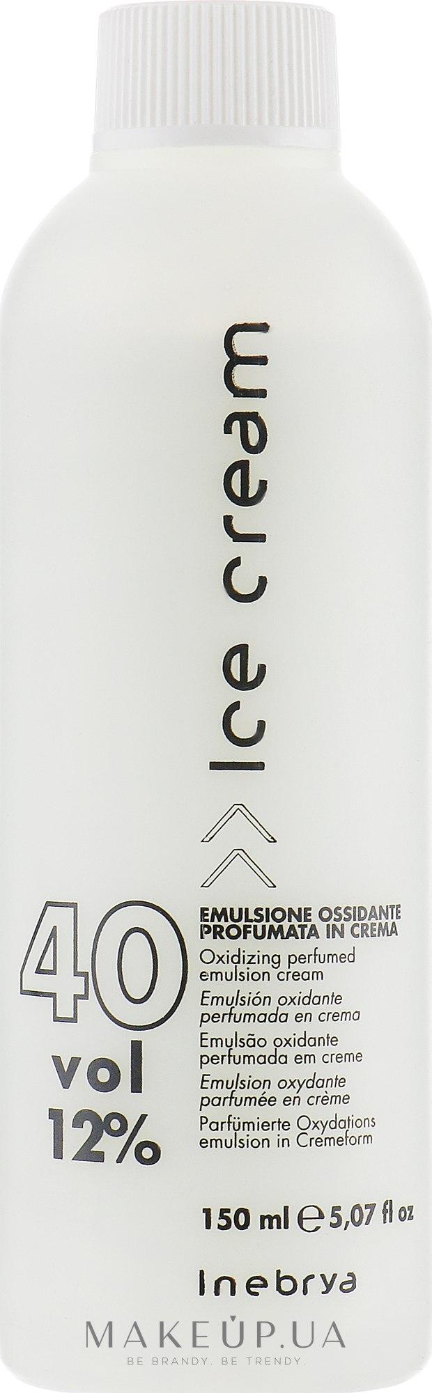 Парфумована окислювальна емульсія для волосся 12% - Inebrya Hydrogen Peroxide — фото 150ml