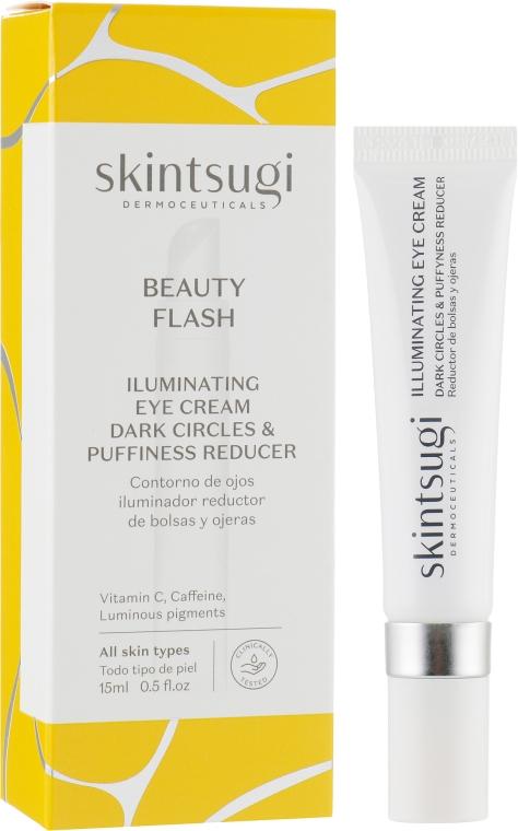 Крем для области вокруг глаз осветляющий - Skintsugi Beauty Flash Illuminating Eye Cream Dark Circles & Puffyness Reducer