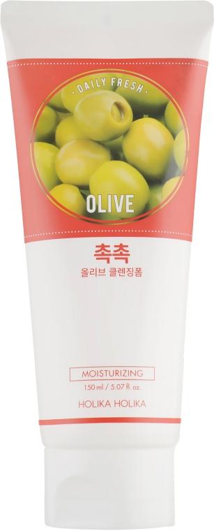 Увлажняющая очищающая пенка - Holika Holika Daily Fresh Olive Cleansing Foam