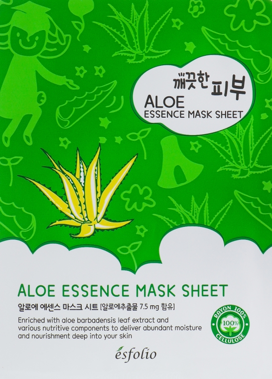 Тканевая маска c алоэ - Esfolio Pure Skin Aloe Essence Mask Sheet