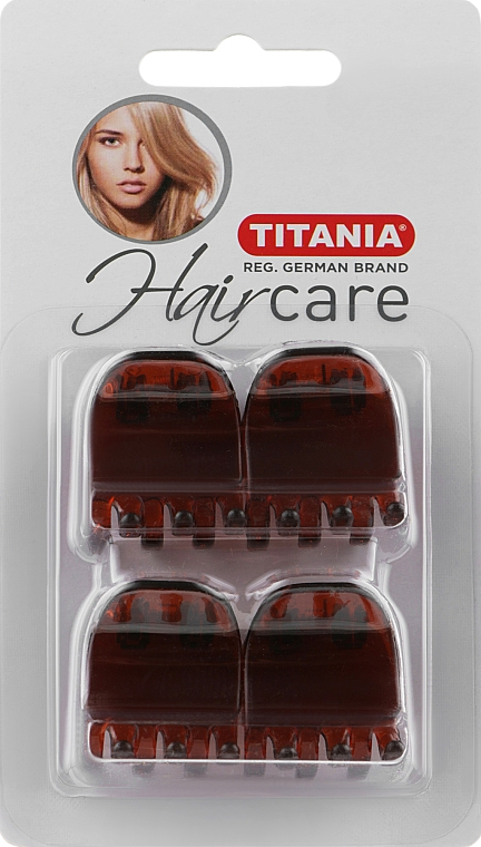 Заколки для волос, 3см, 4шт., коричневые - Titania
