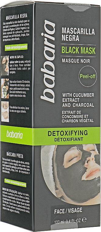 Черная маска для лица - Babaria Detoxifying Black Mask