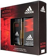 Духи, Парфюмерия, косметика Adidas Active Bodies - Набор (edt/100ml + deo/75ml)