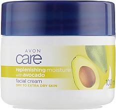 Духи, Парфюмерия, косметика Увлажняющий крем для лица с маслом авокадо - Avon Care Replenishing Moisturizing Face Cream With Avocado