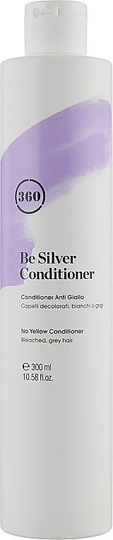 """Кондиционер """"Серебристый блонд"""" с пантенолом и гидролизированным шелковым протеином - Kaaral 360 Be Silver No Yellow Conditioner"""