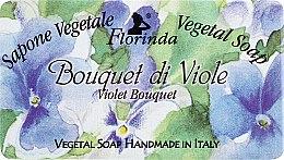 """Духи, Парфюмерия, косметика Мыло натуральное """"Букет фиалок"""" - Florinda Sapone Vegetale Vegetal Soap Violet Bouquet"""
