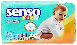 Духи, Парфюмерия, косметика Подгузники Senso Baby Ecoline Midi 3 (4-9 кг) 44 шт - Senso Baby