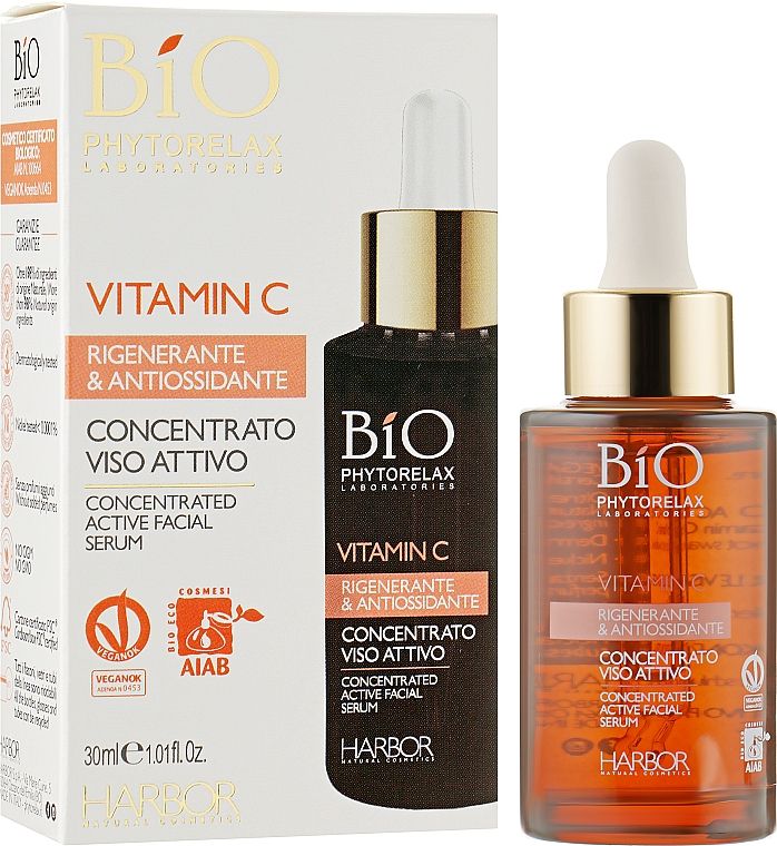 Сыворотка с витамином С - Phytorelax Laboratories Bio Concentrated Active Facial Serum Vitamin C