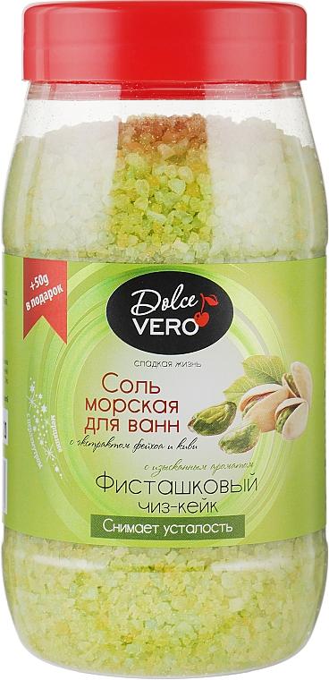 """Соль морская для ванн с экстрактом фейхоа и киви """"Фисташковый чиз-кейк"""" - Aqua Cosmetics Dolce Vero"""