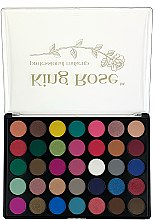 Духи, Парфюмерия, косметика Палетка теней для век, 35 цветов - King Rose Eyeshadow Palette 35D