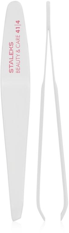Пинцет для бровей с узкими скошенными кромками, TBC-41/4 - Staleks Beauty & Care 41 Type 4