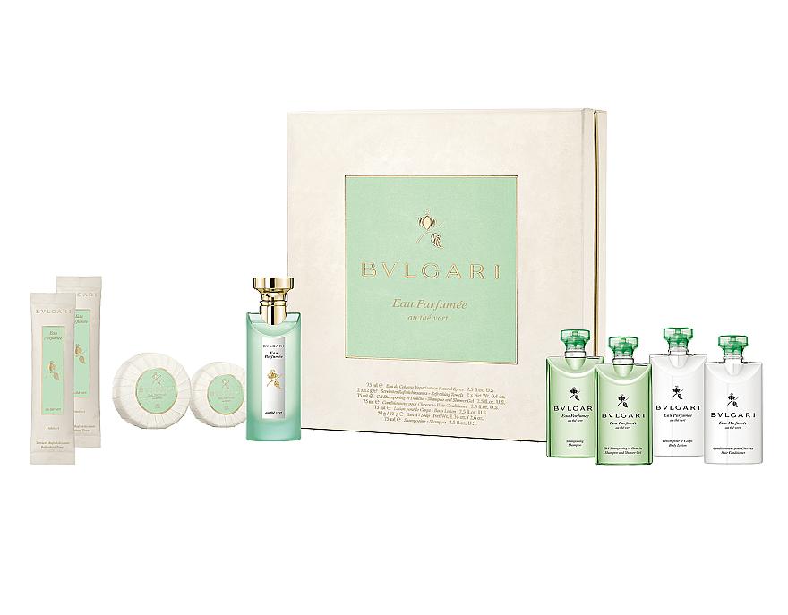 Bvlgari Eau Parfumee au The Vert - Набор (edc/75ml + shm/75ml + sh/gel/75ml + cond/75ml + b/lot/75ml + soap/75g + soap/50g + wipe/2x12g)