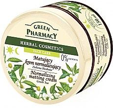 "Духи, Парфюмерия, косметика Крем для лица матирующий ""Зеленый чай"" - Green Pharmacy Normalizing Matting Cream Green Tea"