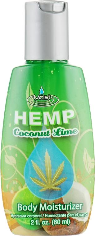 Гиппоаллергенный лосьон после загара на натуральной основе - Malibu Hemp Coconut Lime