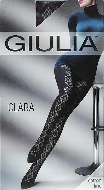 """Колготки для женщин """"Clara Model 2"""" 200 Den, caffe/blue - Giulia"""
