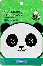 Духи, Парфюмерия, косметика Тканевая маска для лица с экстрактом алоэ - Milatte Fashiony Mask Sheet Aloe