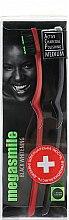 """Духи, Парфюмерия, косметика Зубная щётка """"Блэк Вайтенинг"""", бордовая + черная - Megasmile Medium Whiteninng Toothbrush"""