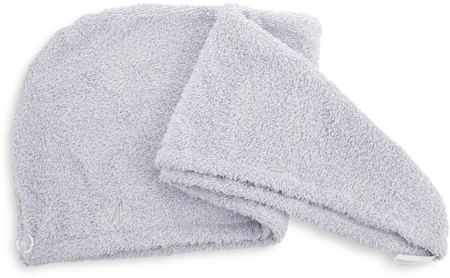 Полотенце-тюрбан для сушки волос, серое - Makeup