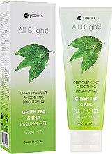 Духи, Парфюмерия, косметика Пилинг-скатка для лица с экстрактом зелёного чая и BHA - Jkosmec All Bright Green Tea and BHA Basic Peeling Ge