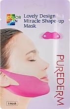 Духи, Парфюмерия, косметика Маска-бандаж для подбородка и скул - Purederm Lovely Design Miracle Shape-up V-line Mask