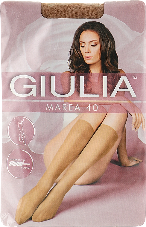 "Гольфы для женщин ""Marea Gambaletto"" 40 Den, 2 пары, daino - Giulia"