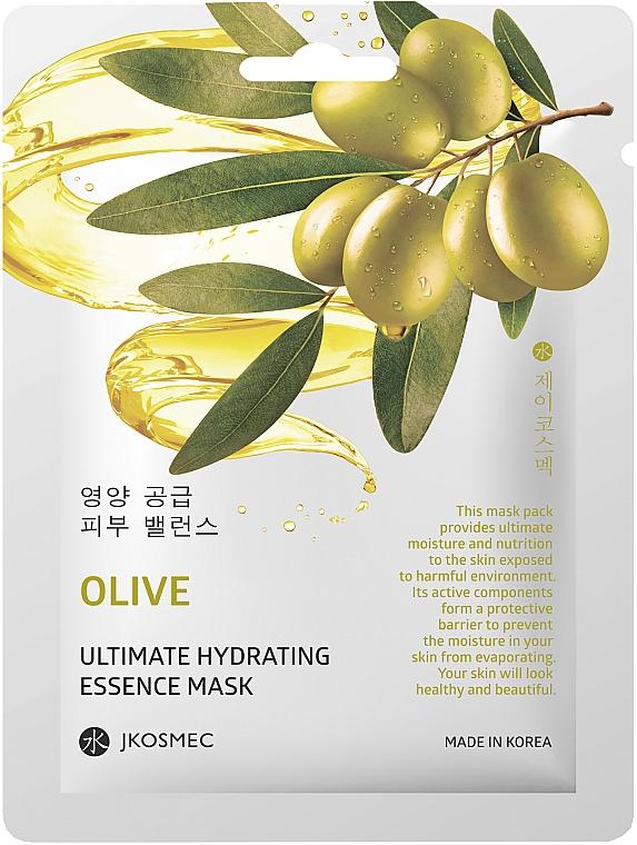 Ежедневная увлажняющая маска с экстрактом оливы - Jkosmec Olive Ultimate Hydrating Essence Mask