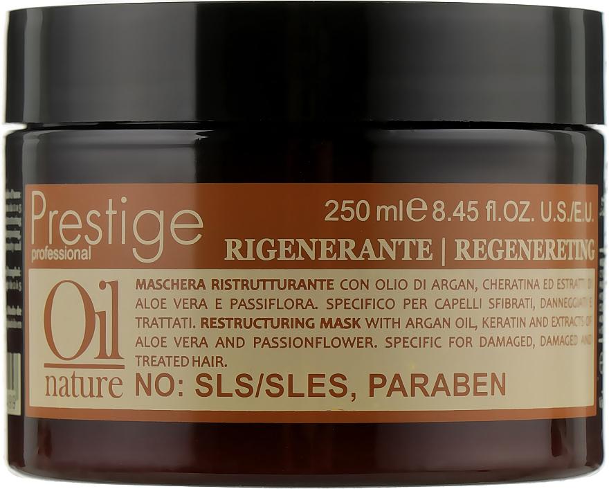 Восстанавливающая маска для волос с аргановым маслом и кератином - Erreelle Italia Prestige Oil Nature Regenereting Mask