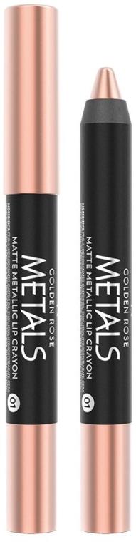 Помада-карандаш для губ - Golden Rose Metals Matte Metallic Lip Crayon