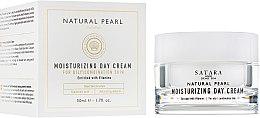 Духи, Парфюмерия, косметика Увлажняющий дневной крем для жирной и комбинированной кожи - Satara Natural Pearl Moisturizing Day Cream For Oily&Combination Skin