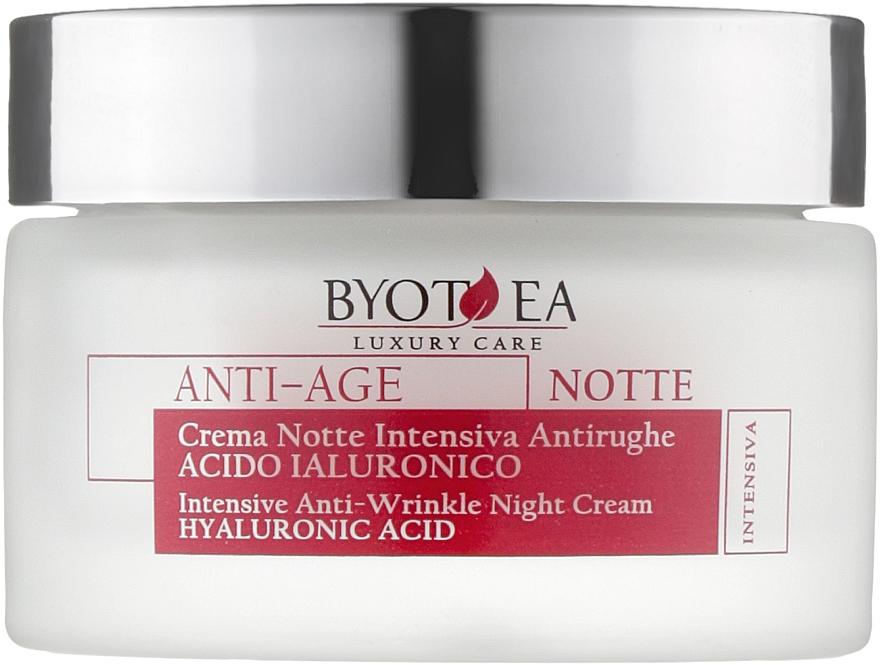 "Ночной крем против морщин ""Интенсив"" с гиалуроновой кислотой - Byothea Anti-Age Intensive Anti-Wrinkle Night Cream Hyaluronic Acid"