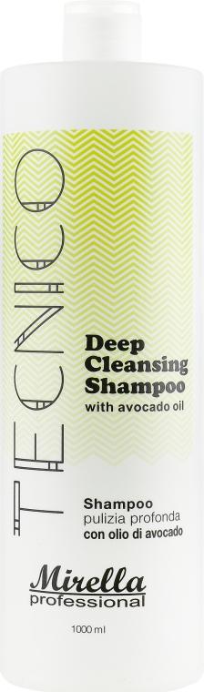 Шампунь глубокой очистки для волос с маслом авокадо - Mirella Professional Tecnico Deep Cleansing Shampoo