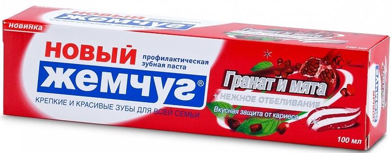 """Зубная паста """"Гранат и мята + отбеливание"""" - Новый Жемчуг"""
