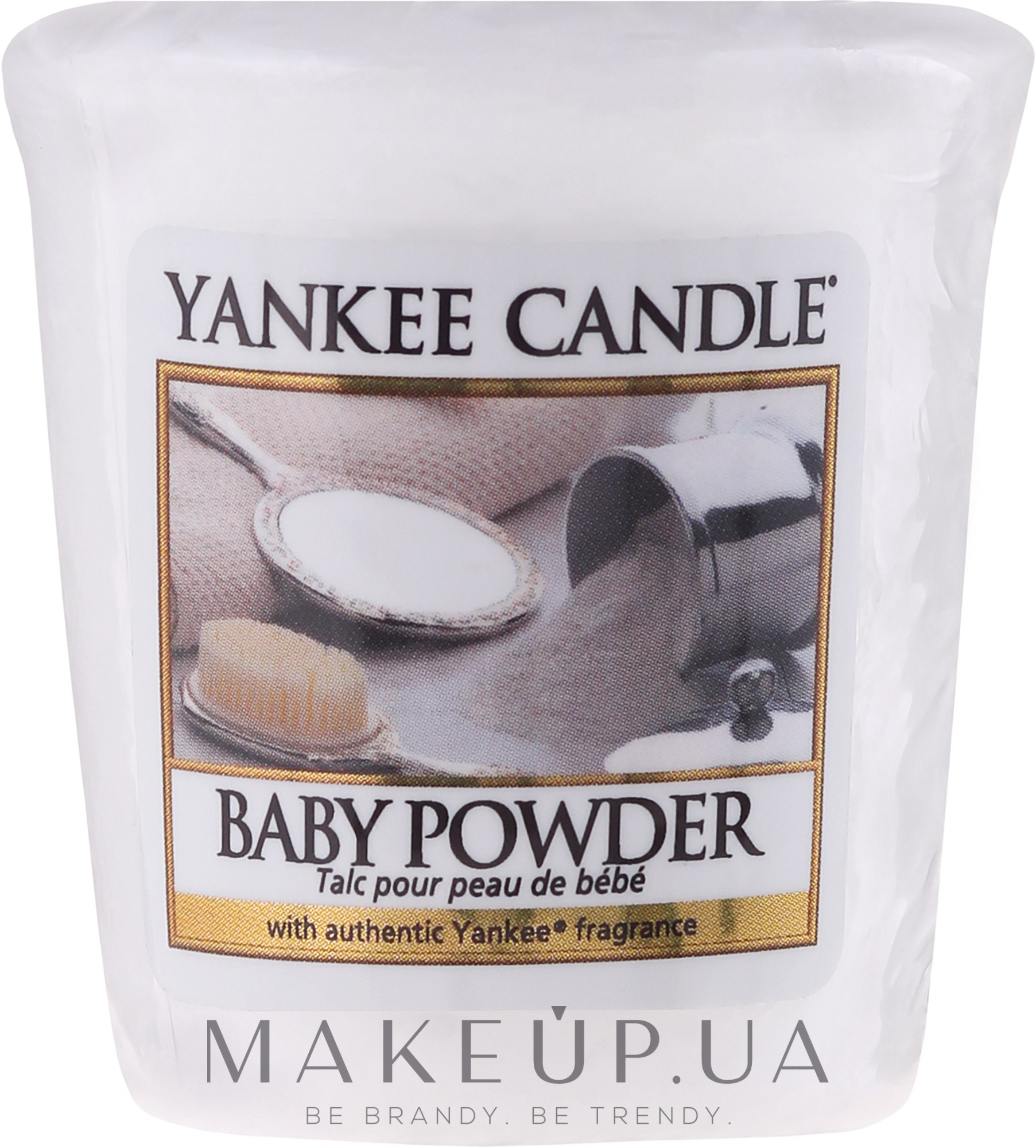 Ароматическая свеча - Yankee Candle Scented Votive Baby Powder — фото 49g
